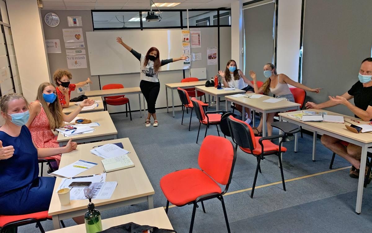 Asier mit ihrem Spanish Intensiv-Kurs
