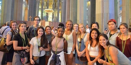 Our students visiting Sagrada Familia